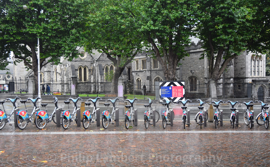 """Dublin Bike Share"" stock image"