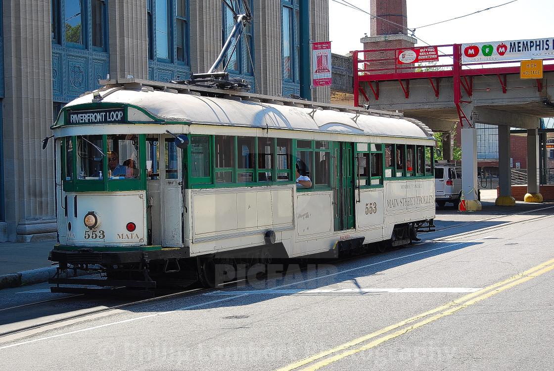 """Memphis Streetcar"" stock image"