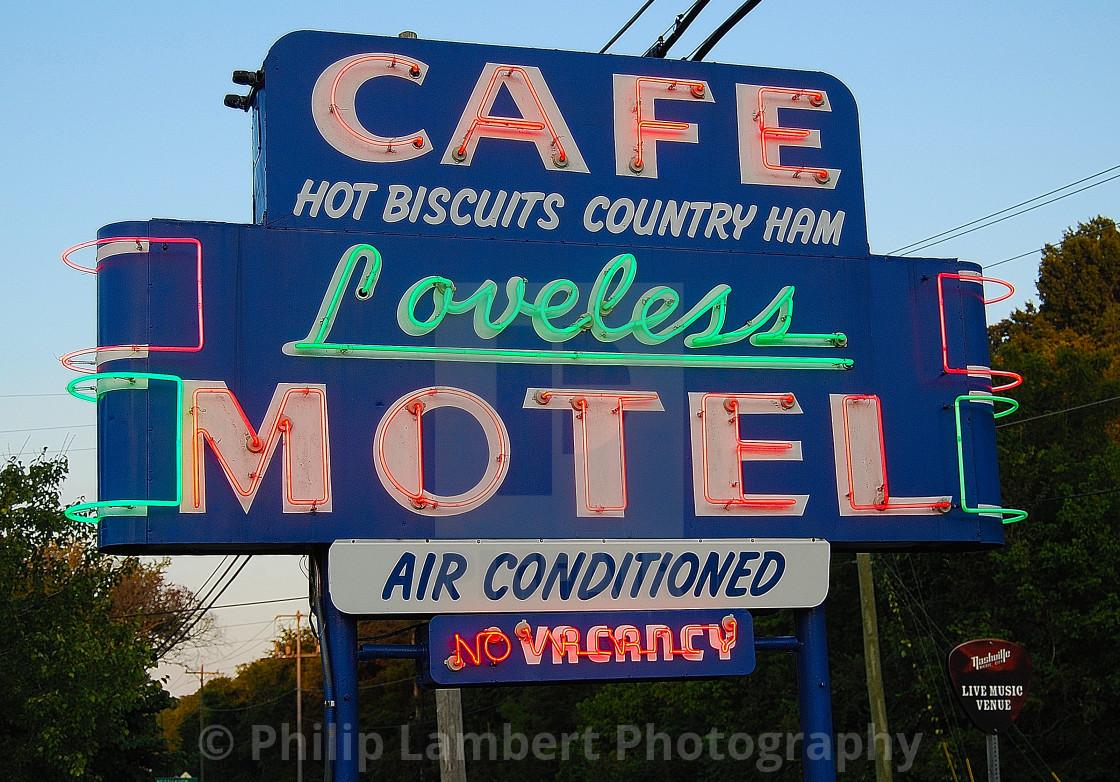 """Cafe Loveless"" stock image"
