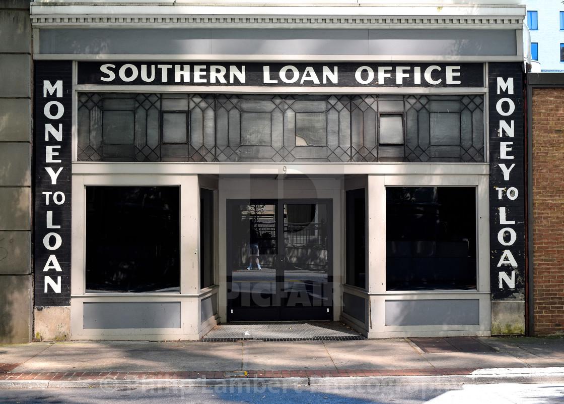 """Old Southern Pawn, Roanoke, Virginia"" stock image"