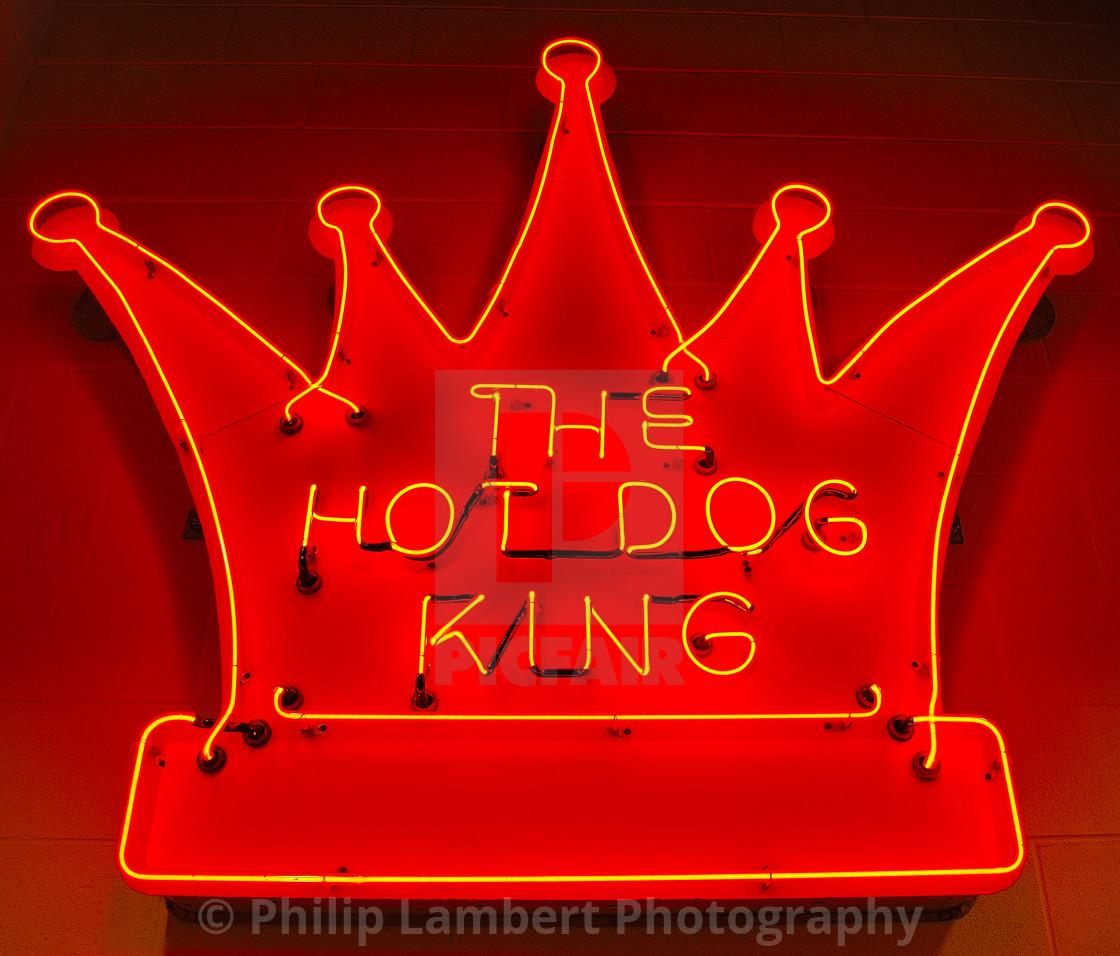 """""""Hot Dog King"""" stock image"""