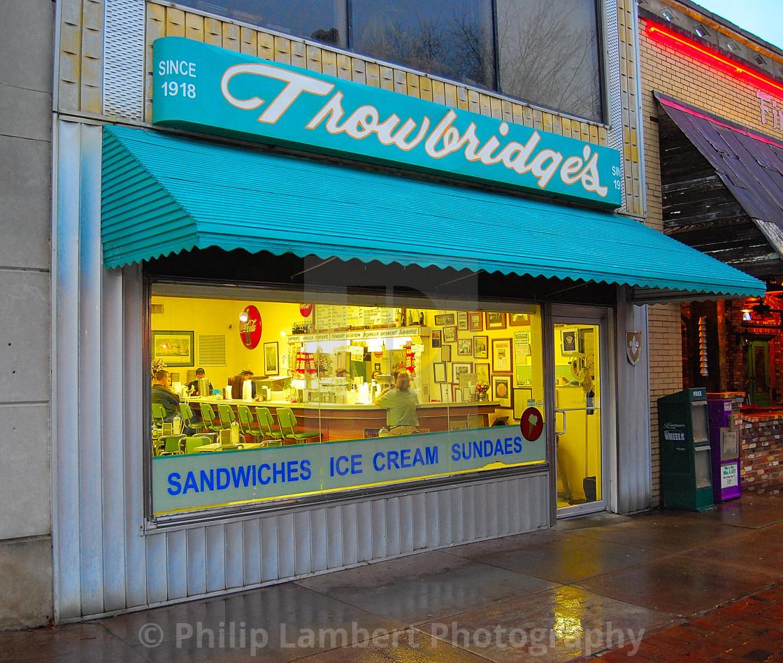 """""""Trowbridge's Restaurant"""" stock image"""