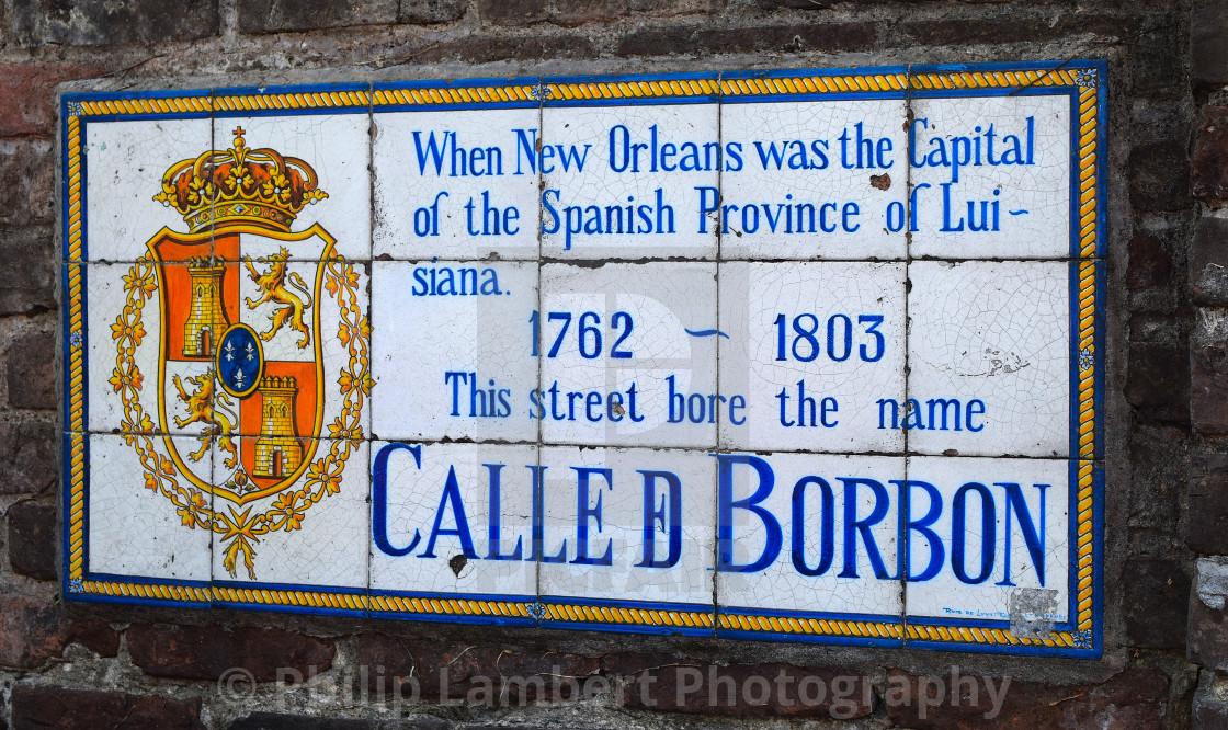 """Bourbon Street, New Orleans, Louisiana"" stock image"