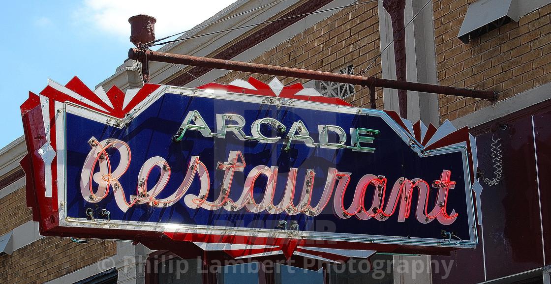 """Arcade Restaurant"" stock image"
