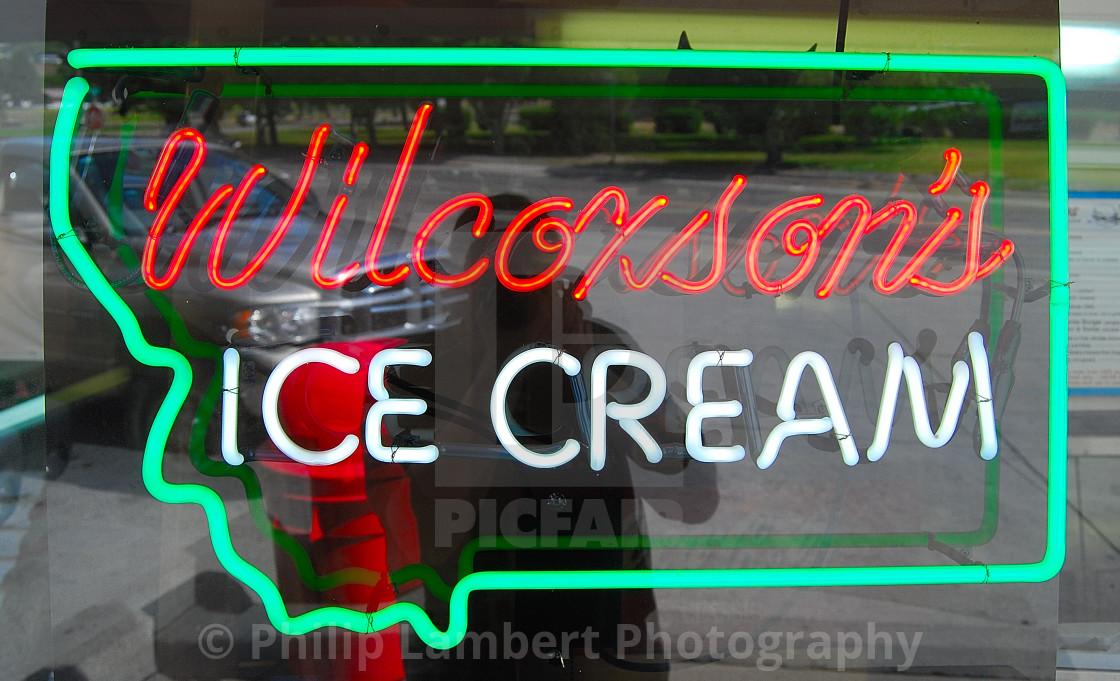 """""""Wilcoxson's Ice Cream"""" stock image"""