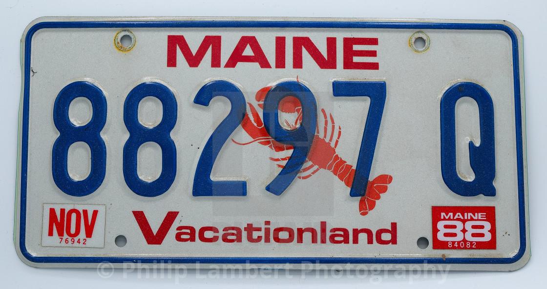 """Vintage Maine Plate"" stock image"