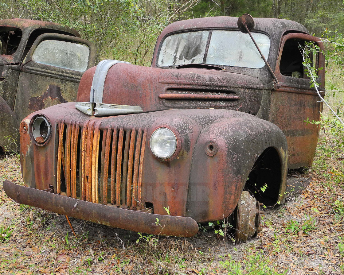 """""""OLD FORD TRUCK"""" stock image"""