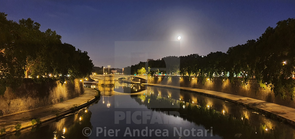 """Rome at night"" stock image"