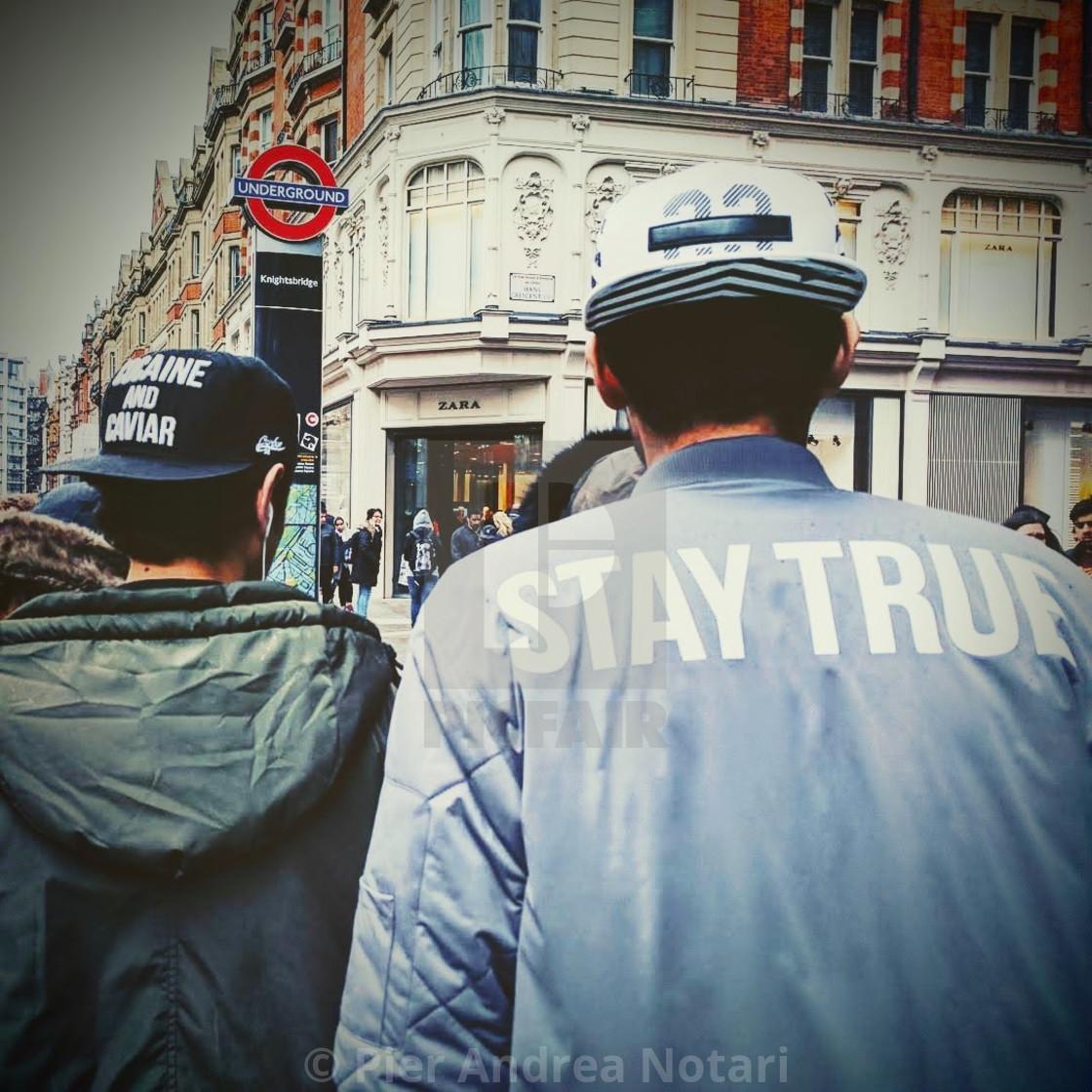 """Stay true"" stock image"
