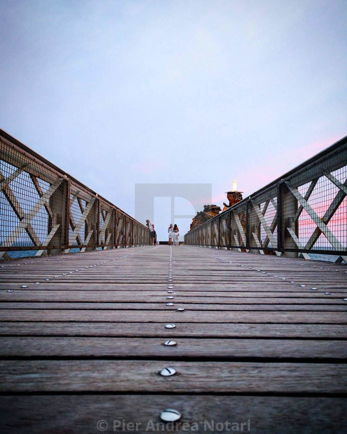 """""""On the bridge"""" stock image"""