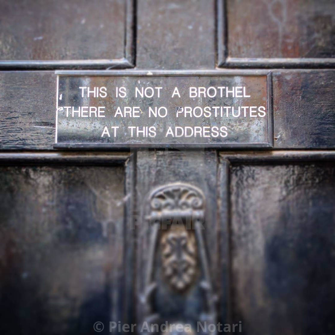 """""""Not a Brothel"""" stock image"""