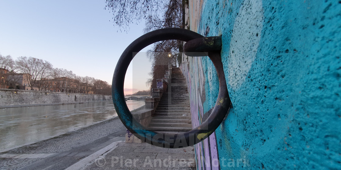 """View through the Iron Ring"" stock image"