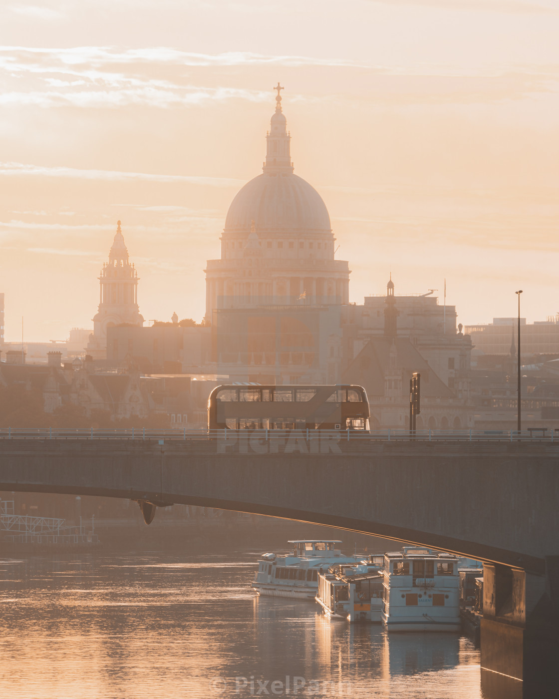 """St. Paul's Sunrise"" stock image"