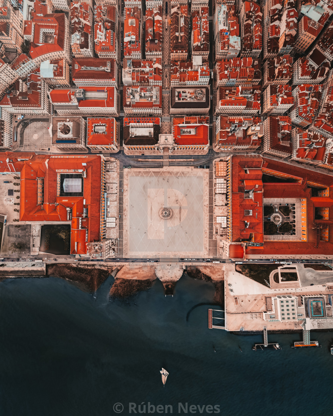 """""""Topographic view of Lisbon"""" stock image"""