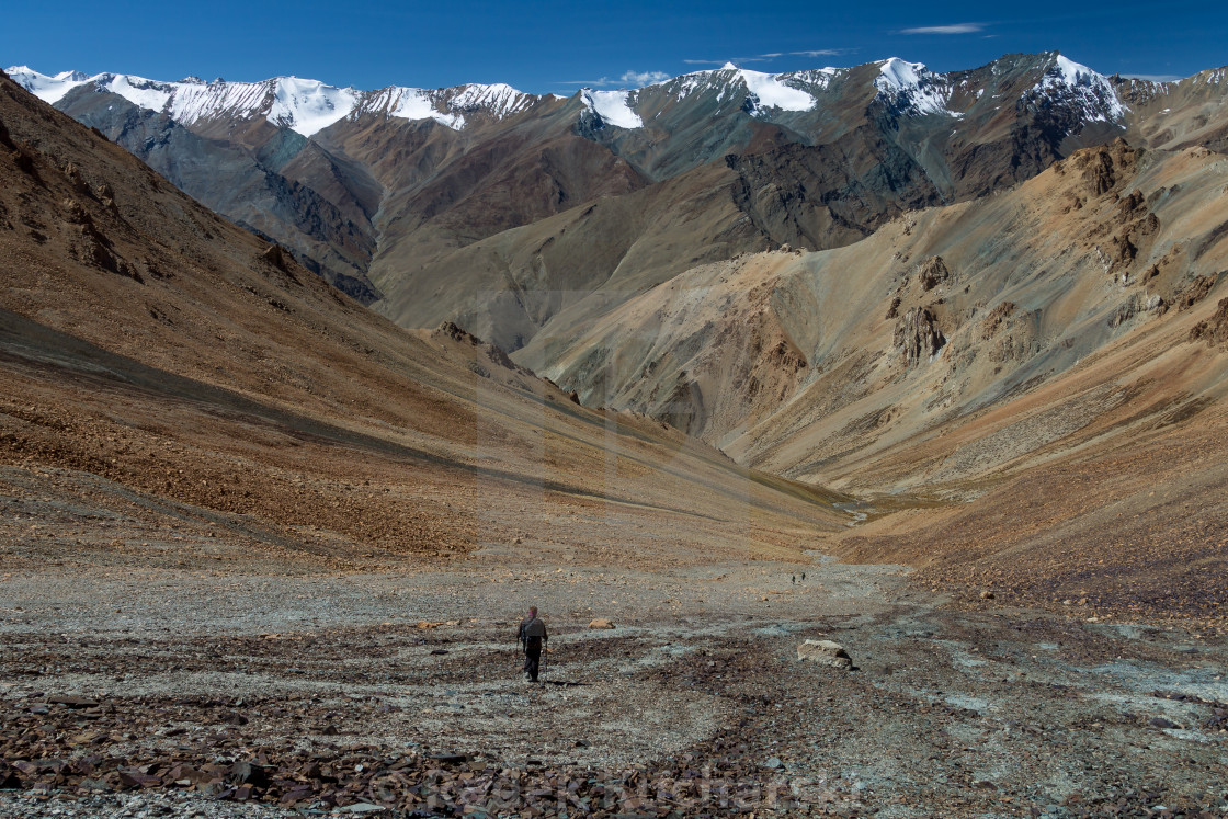 View from Zherin La of the Himalayan Zanskar Range