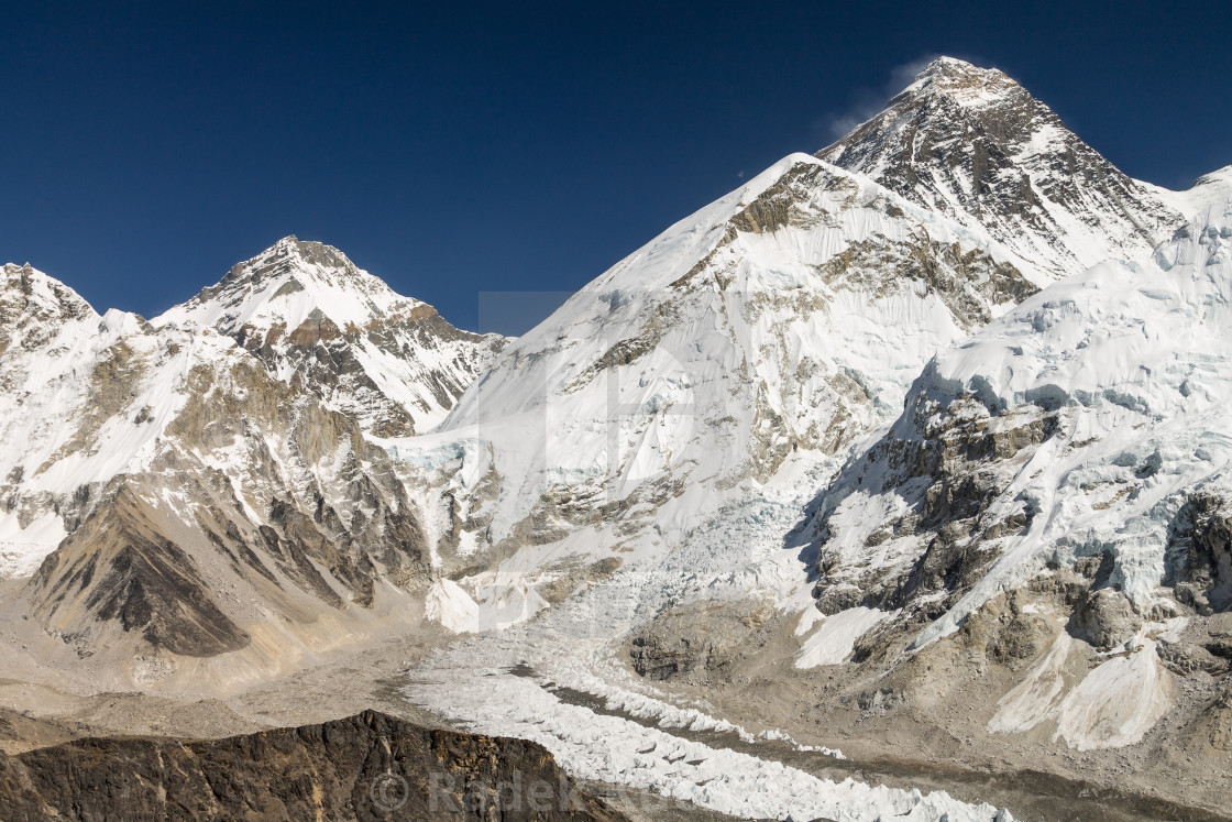 """Mount Everest - view from Kala Patthar"" stock image"