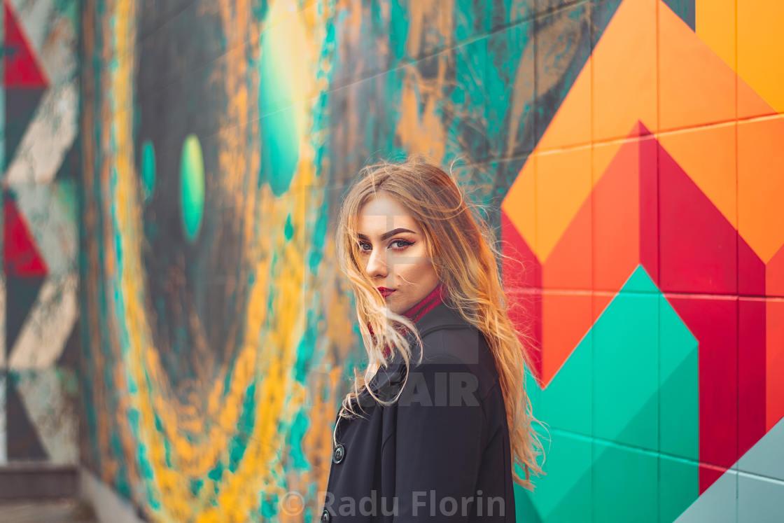 """Female portrait"" stock image"