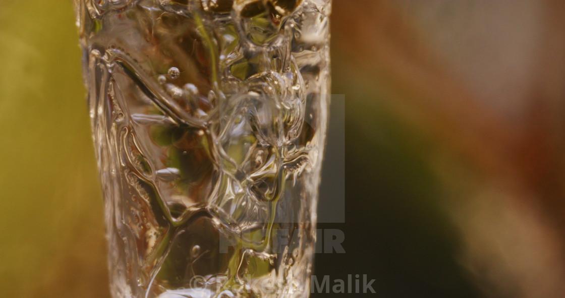 """""""Melting Icicle Closeup"""" stock image"""