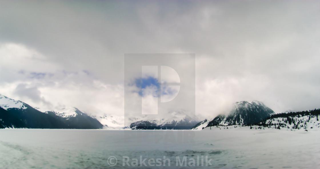 """Frozen Garibaldi Lake"" stock image"
