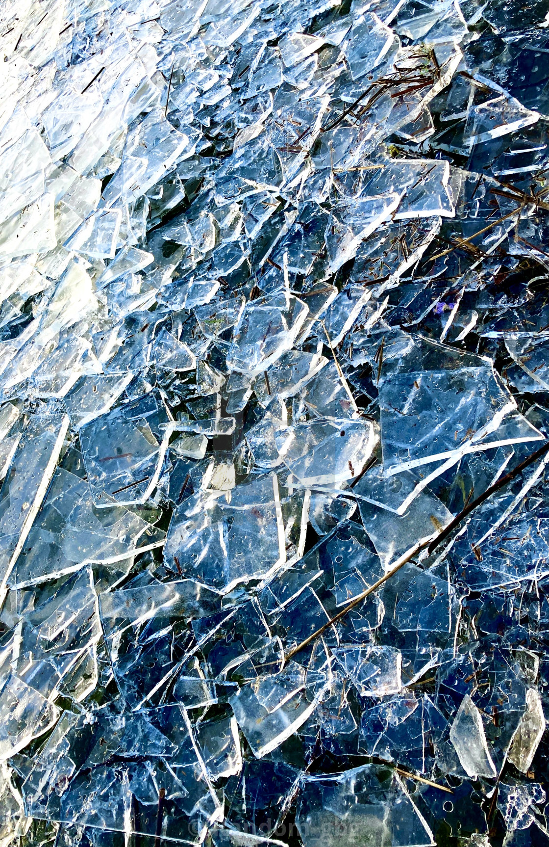 """Broken ice"" stock image"