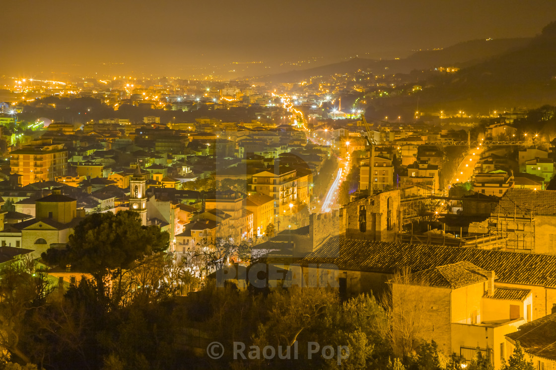 """""""The city at night"""" stock image"""