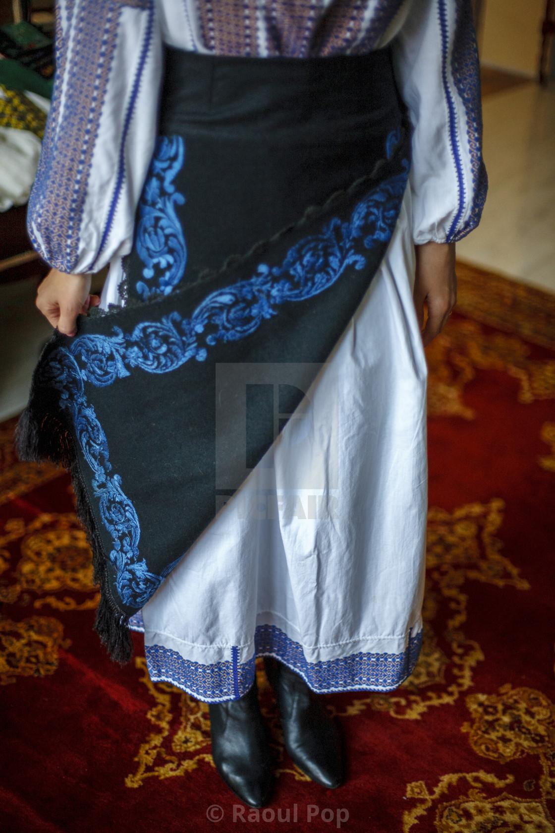 """Traditional Romanian garb"" stock image"