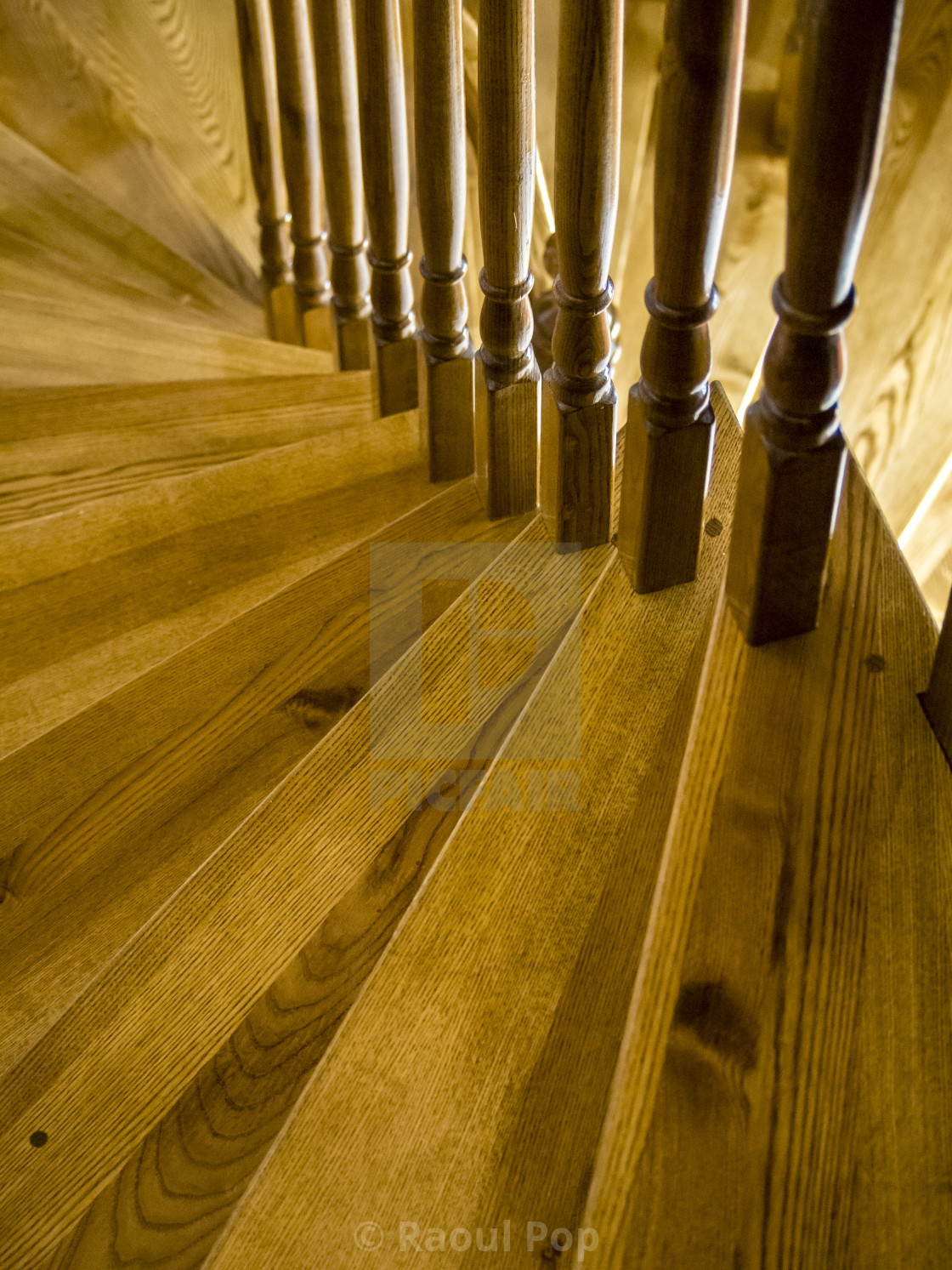 """""""Balusters in a spiral"""" stock image"""