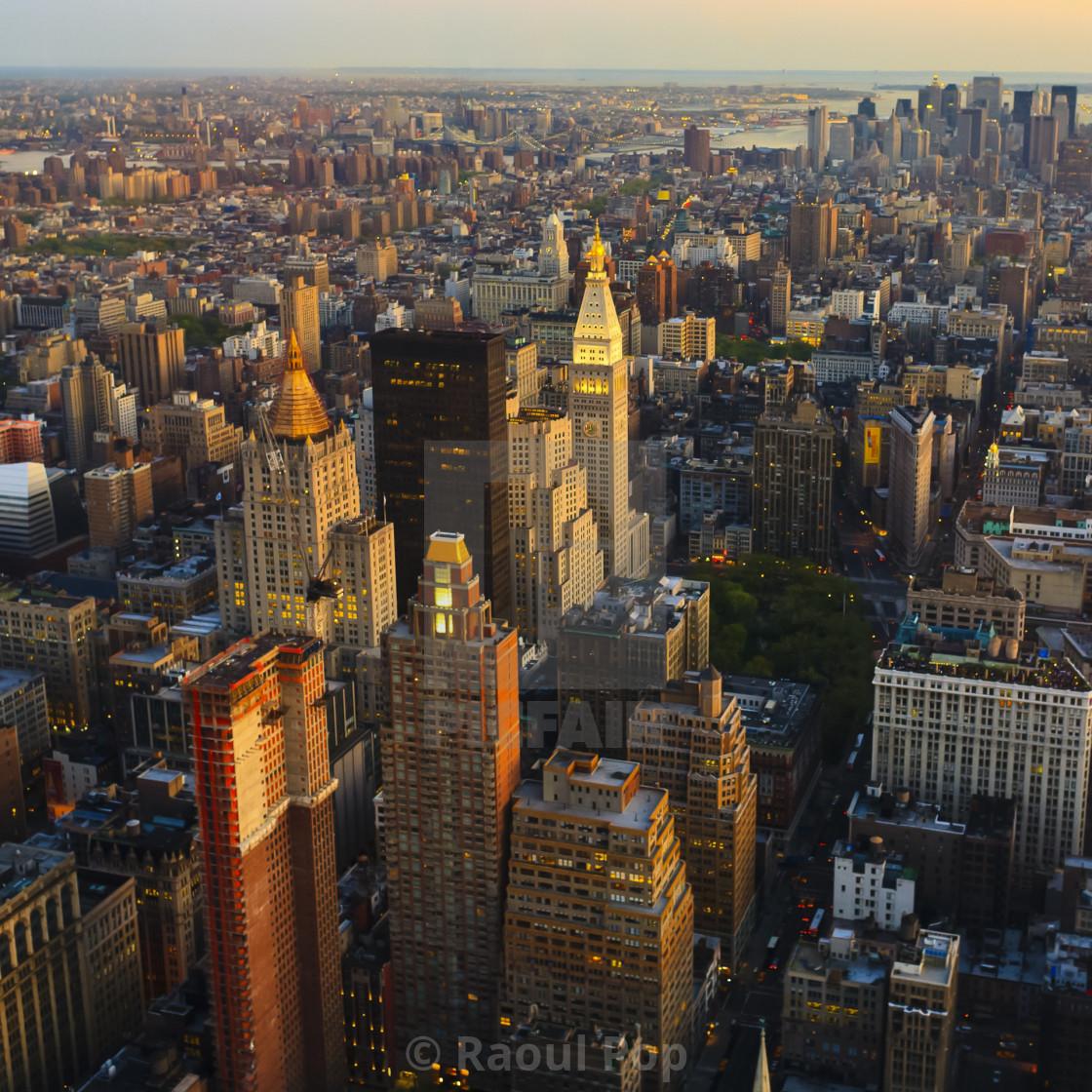 """Manhattan at dusk"" stock image"