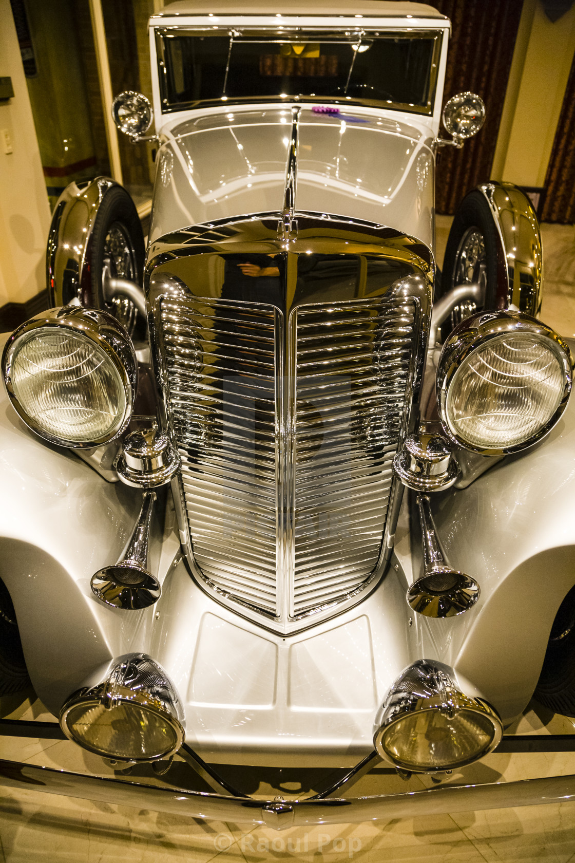 """""""Chrome grille"""" stock image"""