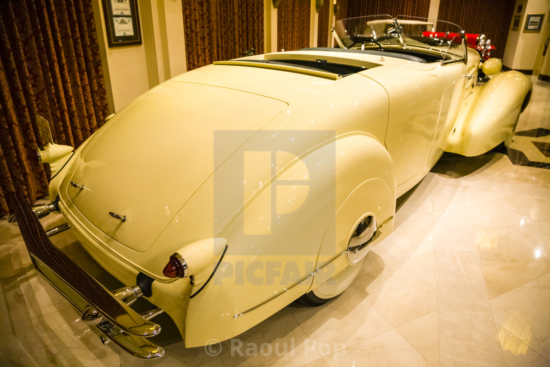 """1934 V-16 Cadillac Roadster by Fleetwood"" stock image"