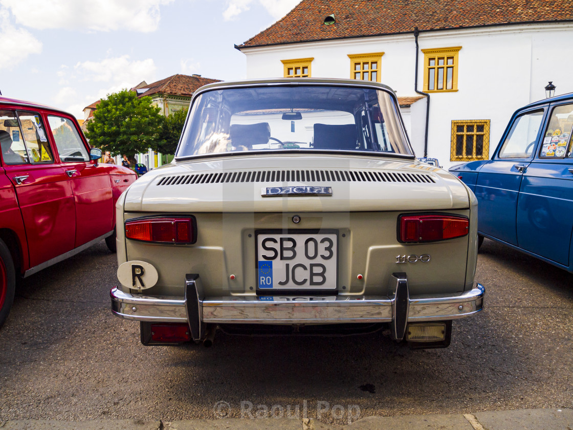 """At a gathering of the Romanian Dacia 1100 club in Medias, Romania."" stock image"