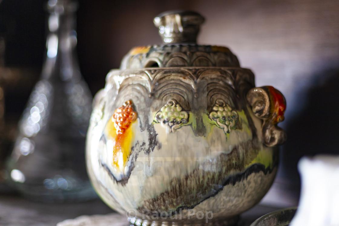 """""""A glazed porcelain jar"""" stock image"""