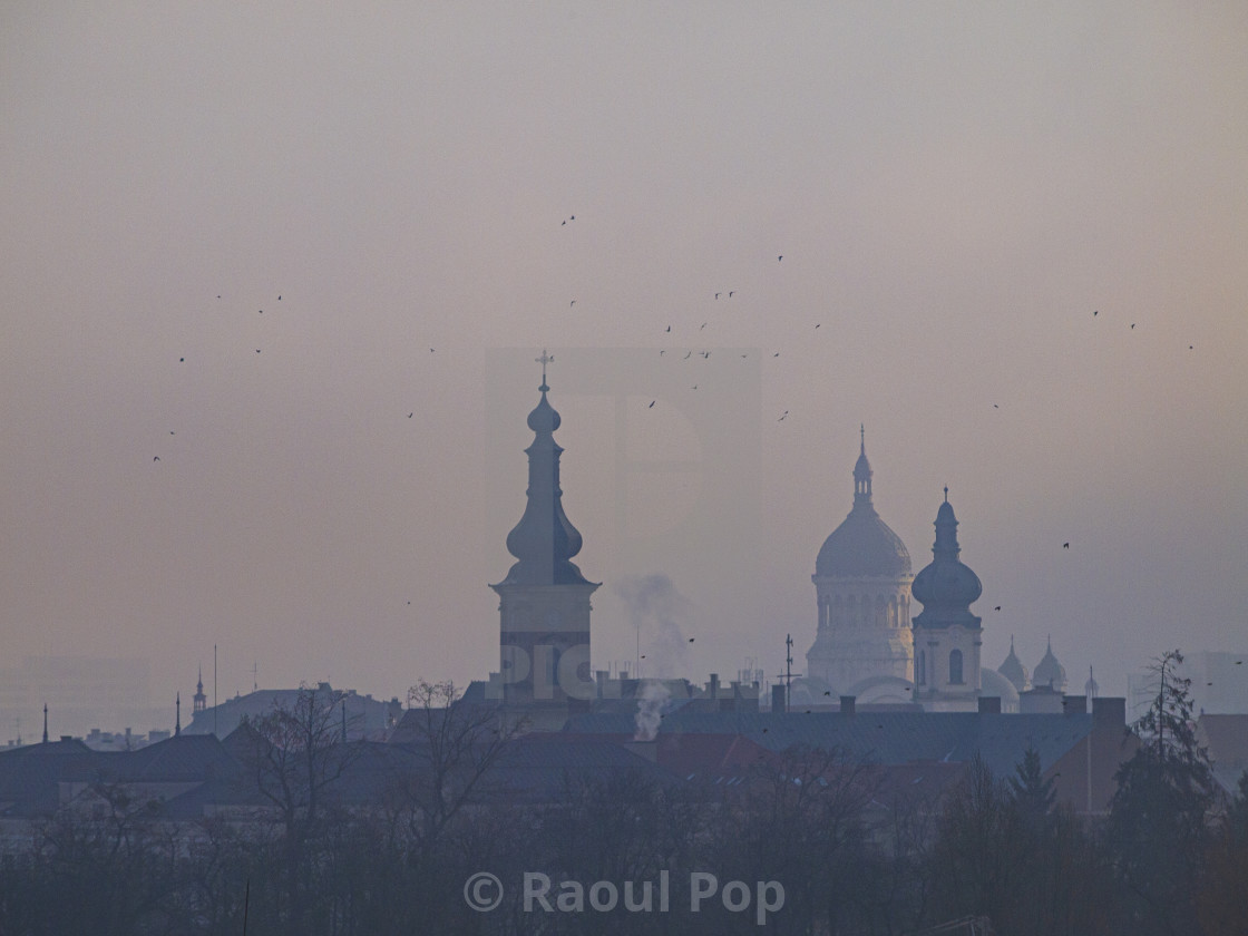 """""""A cathedral in Cluj"""" stock image"""