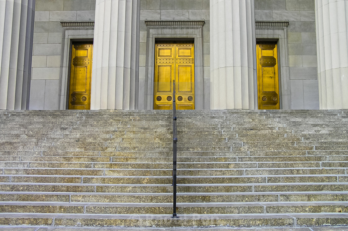 """""""A neoclassic entrance"""" stock image"""