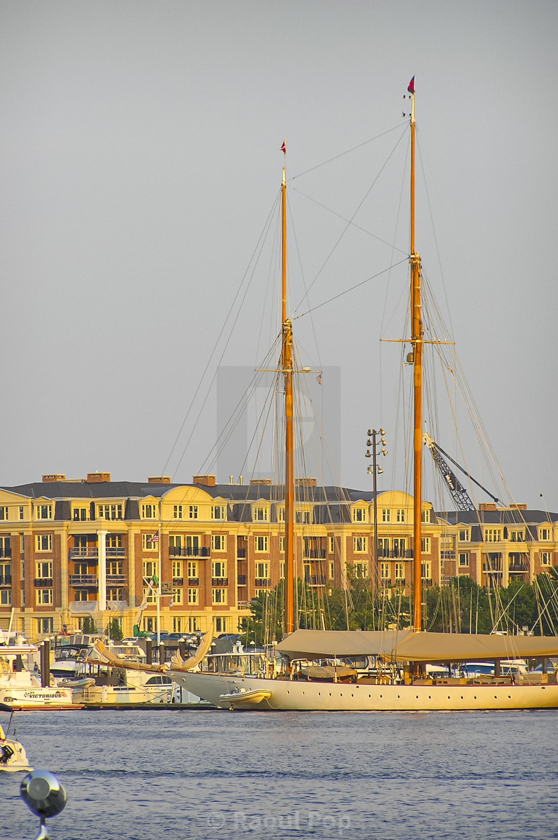 """""""Apartments on the harbor"""" stock image"""