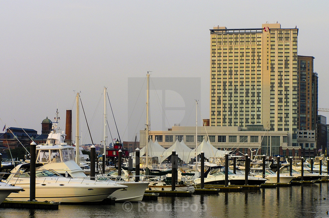 """""""The docks in the evening"""" stock image"""