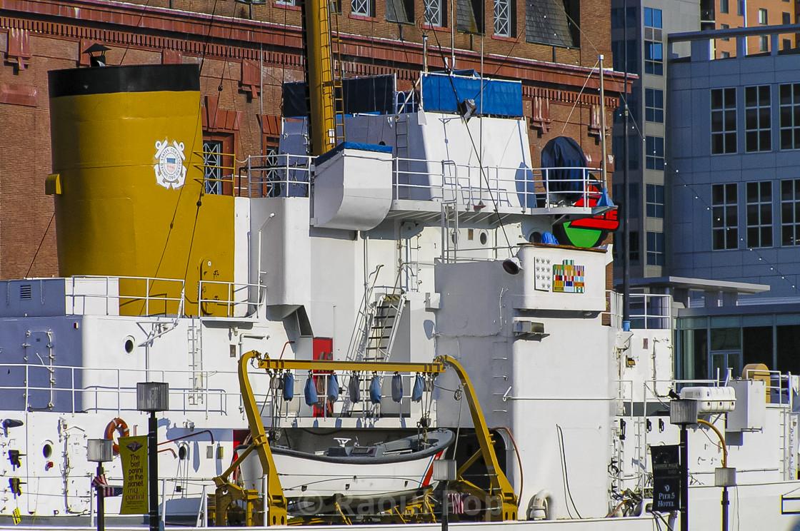 """Museum ship, docked"" stock image"