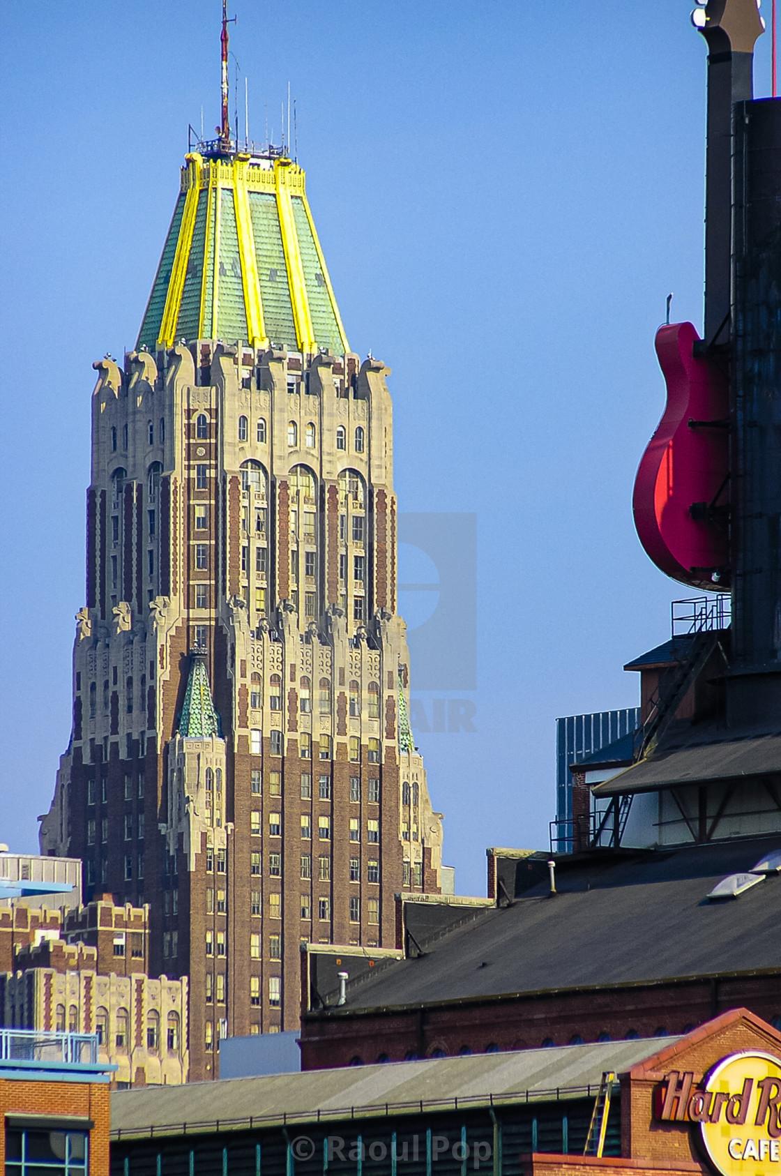 """An Art Deco skyscraper"" stock image"