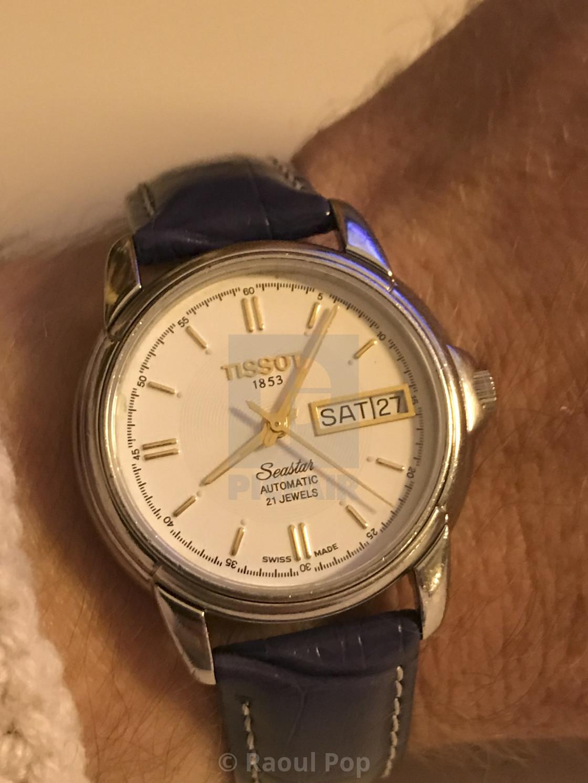 """A Tissot Seastar Automatic watch"" stock image"