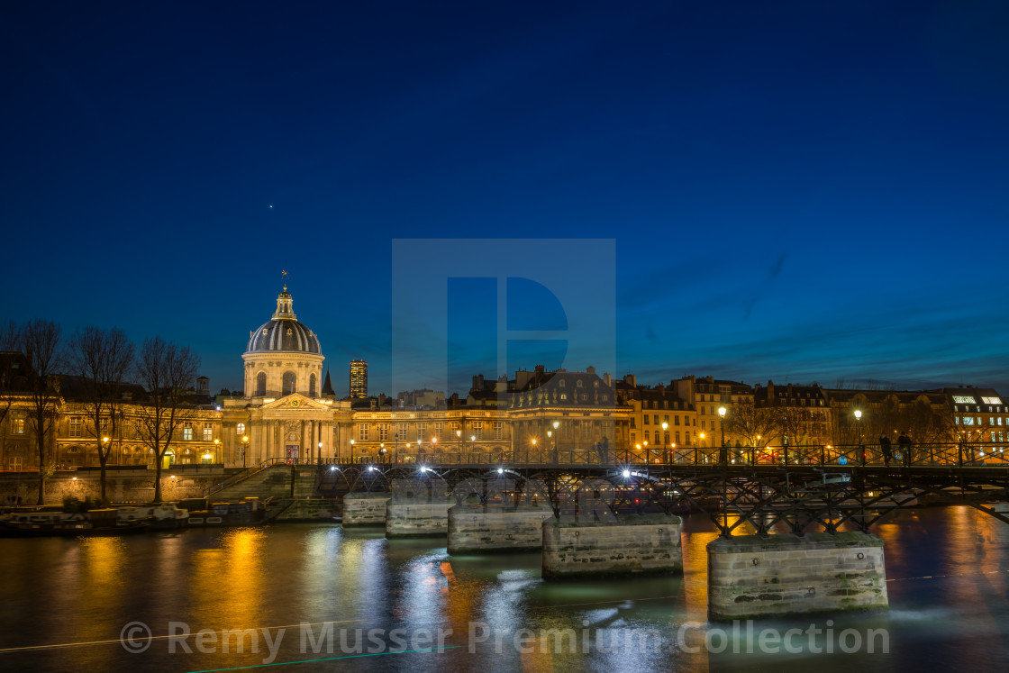 """Bridge by the Seine river in Paris"" stock image"