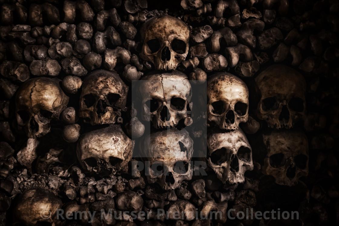 """""""Paris catacombs in Paris France"""" stock image"""