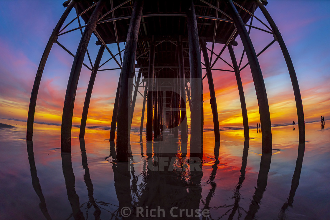 """Oceanside Pier at Sunset - Wide Angle"" stock image"