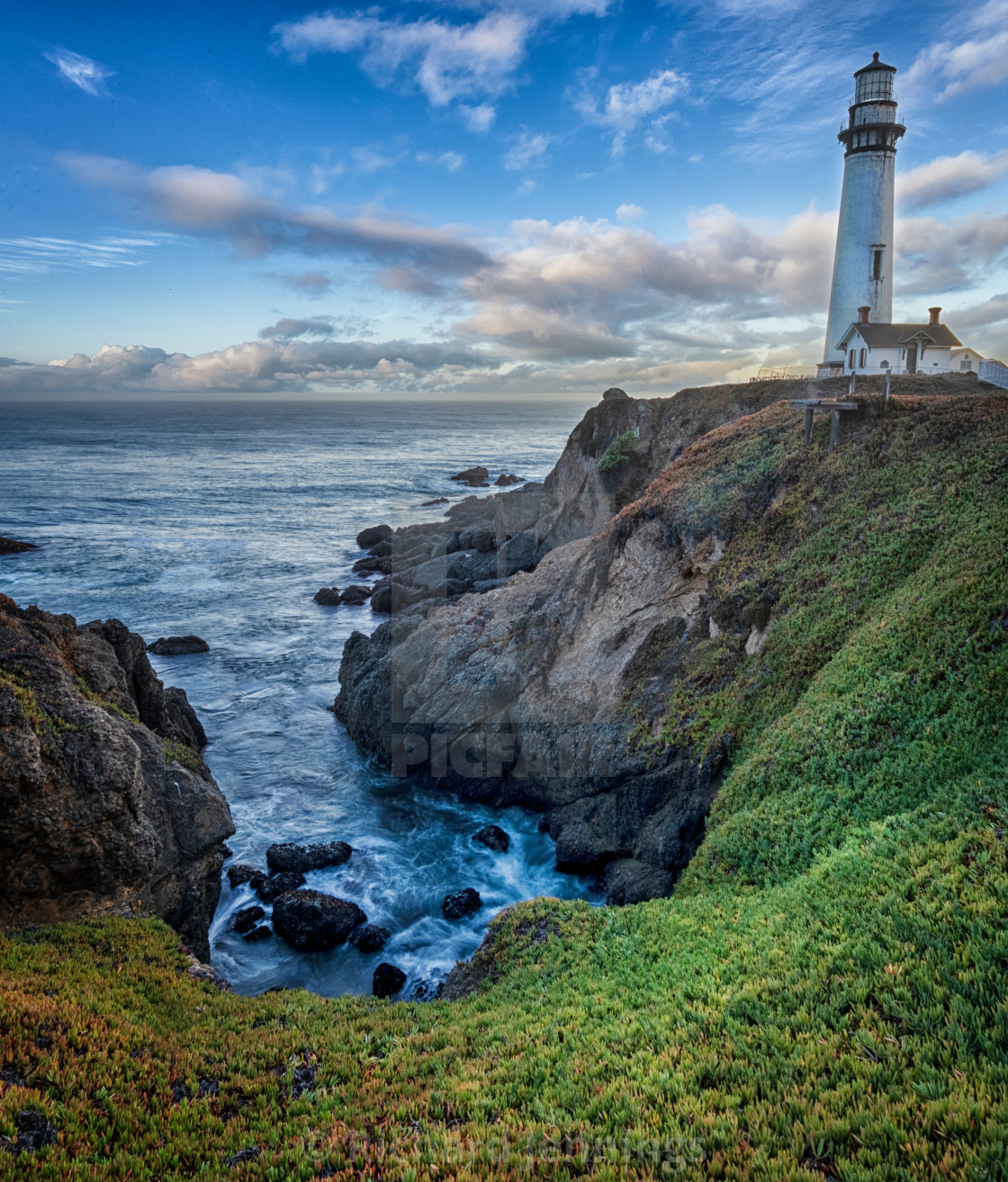 """""""Pigeon Point Lighthouse"""" stock image"""