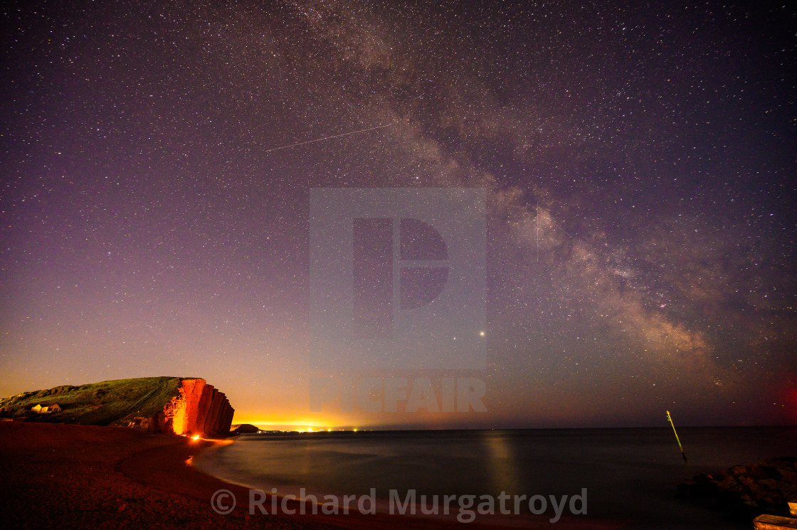 """Milky Way at West Bay"" stock image"