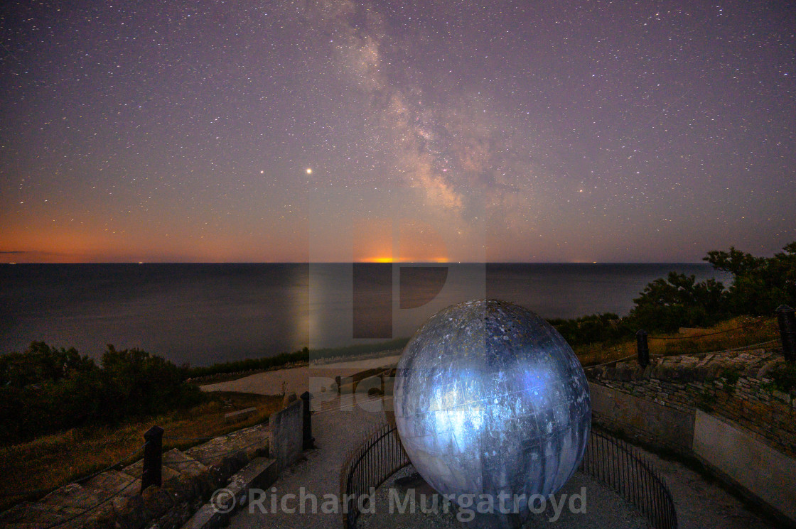 """Milky Way at Durlston"" stock image"