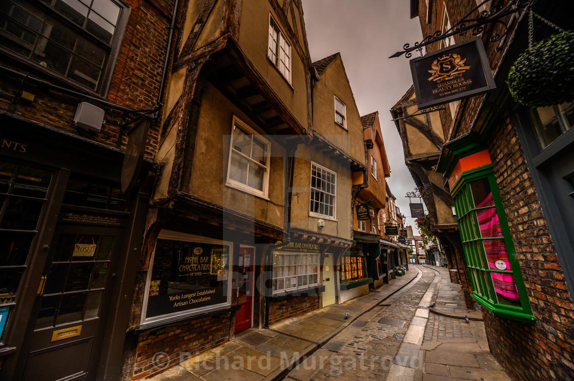 """The Shambles, York"" stock image"