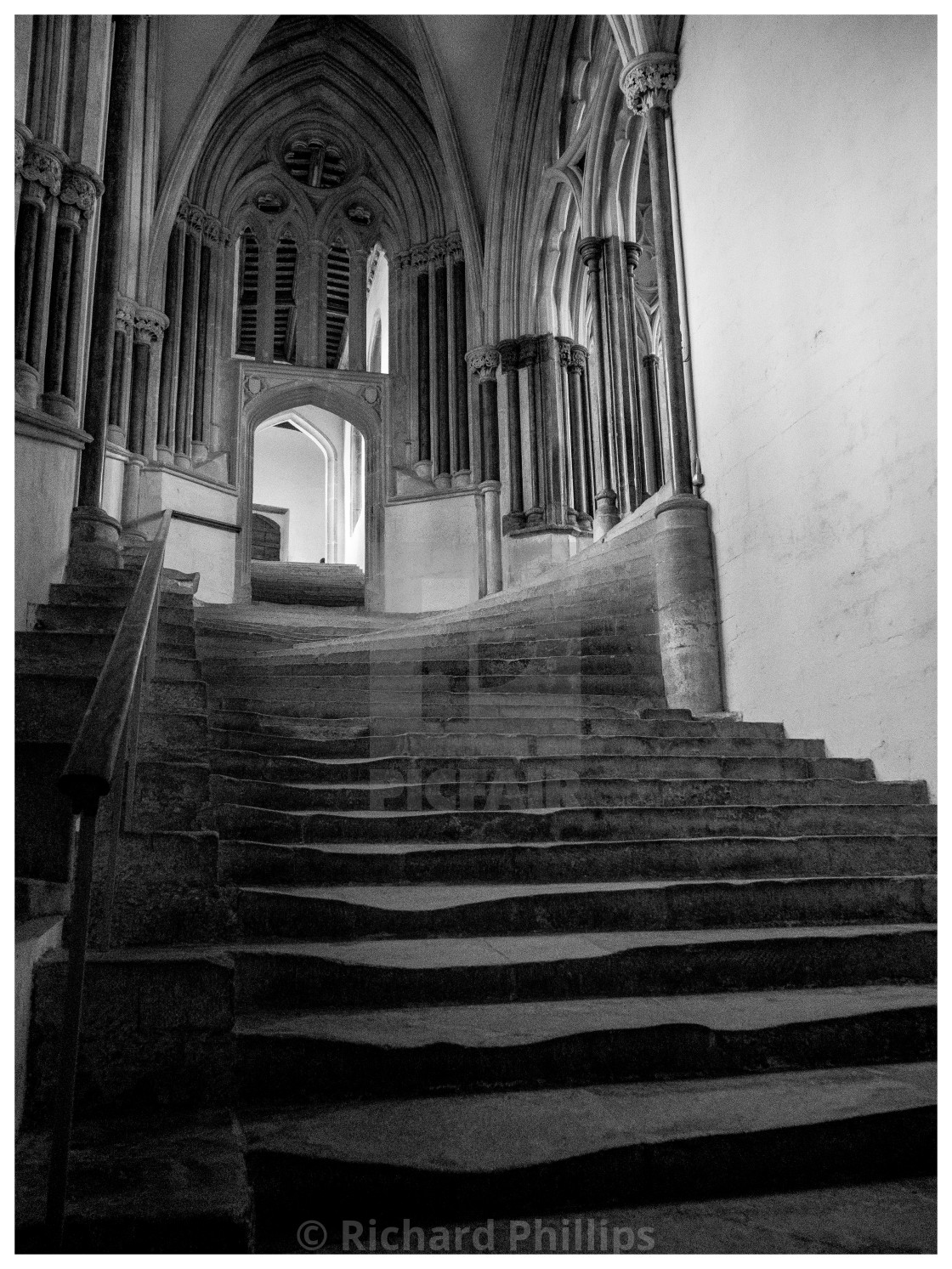 """""""Chapter House Stairs"""" stock image"""