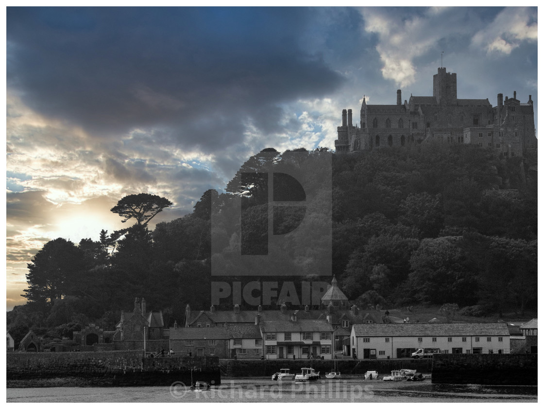 """Saint Michael's Mount"" stock image"