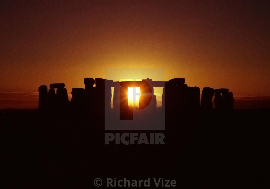 """""""Stonehenge at sunset"""" stock image"""