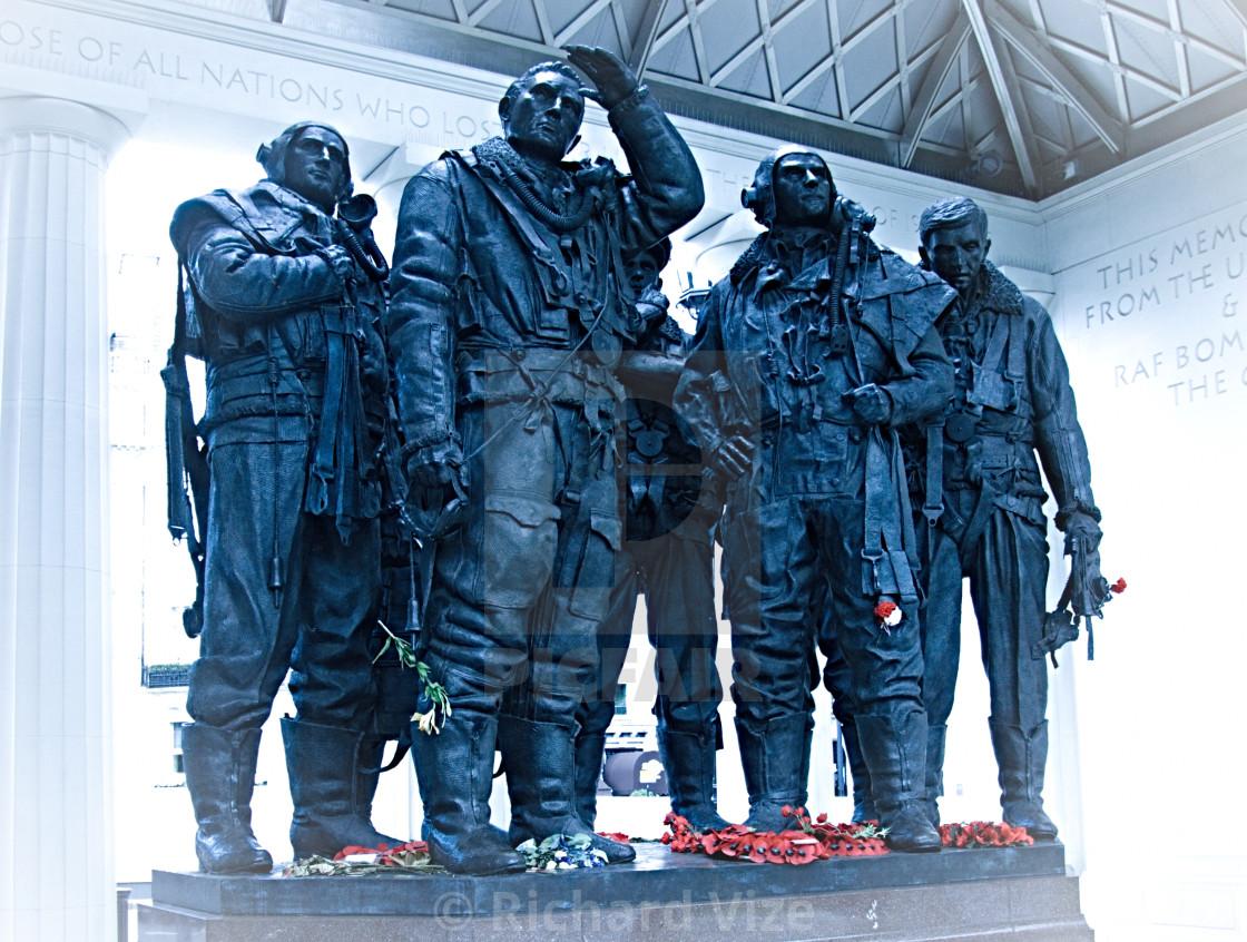 """Bomber Command Memorial, Green Park, London"" stock image"